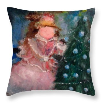 Mother Christmas Throw Pillow
