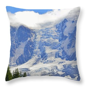 Mount Adams Throw Pillow by Tikvah's Hope