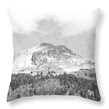 Mount Lassen Throw Pillow by Frank Wilson