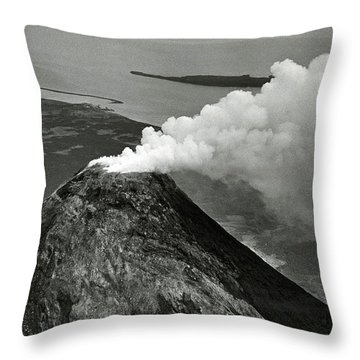 Mayon Volcano Throw Pillows