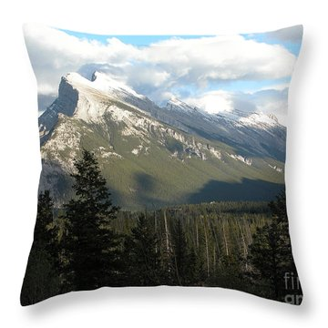 Mount Rundle Throw Pillow by Stuart Turnbull