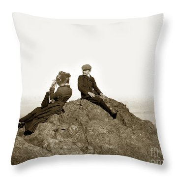 Throw Pillow featuring the photograph Mount Tamalpais Marin County  Circa 1902 by California Views Mr Pat Hathaway Archives
