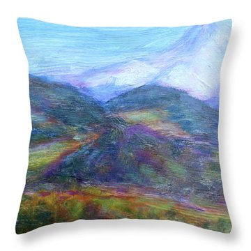 Mountain Patchwork Throw Pillow