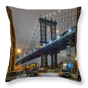 Mr Manhattan  Throw Pillow