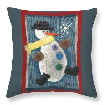 Mr. Snowjangles Throw Pillow