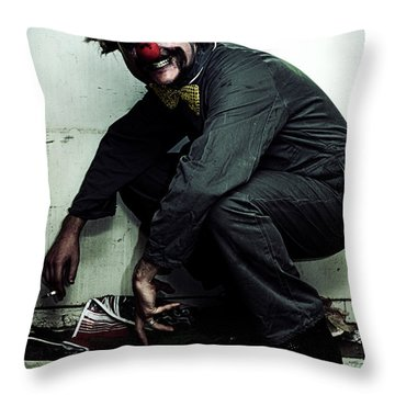 Mr Squatter The Unemployed Clown Throw Pillow