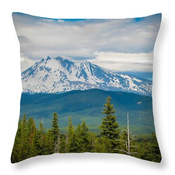 Mt. Adams From Indian Heaven Wilderness Throw Pillow by Patricia Babbitt