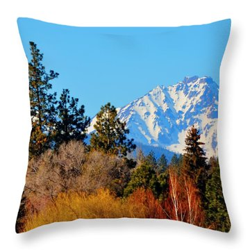 Mt Bachelor 21620 Throw Pillow