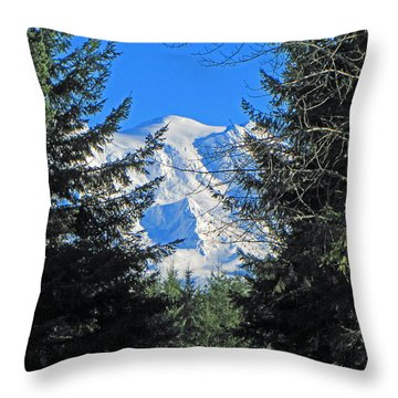 Throw Pillow featuring the photograph Mt. Rainier I by Tikvah's Hope