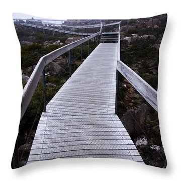 Mt Wellington Summit Throw Pillow