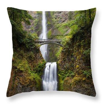 Throw Pillow featuring the photograph Multnomah Falls by Brian Jannsen
