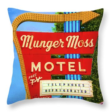 Munger Moss Motel Throw Pillow