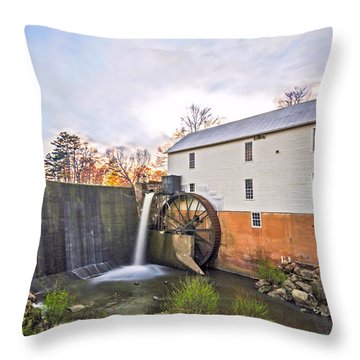 Murrays Mill Throw Pillow by Marion Johnson