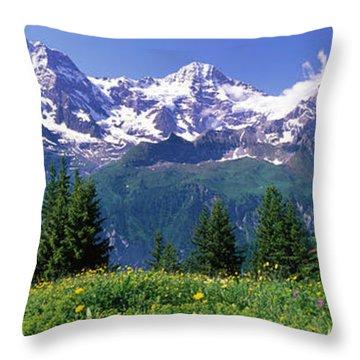 Murren Switzerland Throw Pillow
