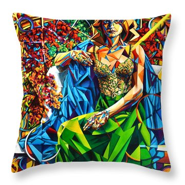 Muse  Summer Throw Pillow by Greg Skrtic