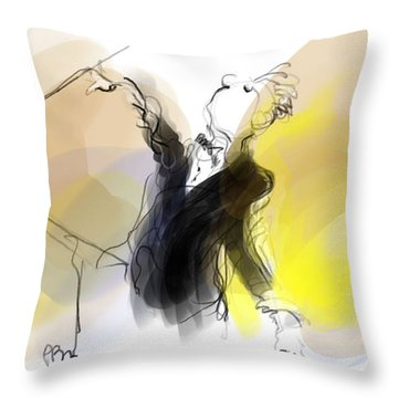 Music Conductor In Yellow Throw Pillow