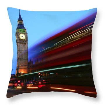 Must Be London Throw Pillow