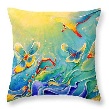 My Dream Throw Pillow by Teresa Wegrzyn