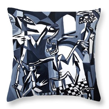 Throw Pillow featuring the painting My Inner Demons by Ryan Demaree