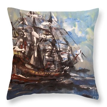 My Ship Throw Pillow