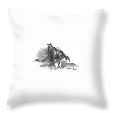 My Stallion Throw Pillow