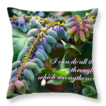 My Strength Throw Pillow by Larry Bishop