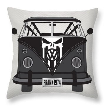 My Superhero-vw-t1-punisher Throw Pillow
