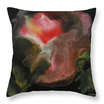 Mystery Cabbage Throw Pillow