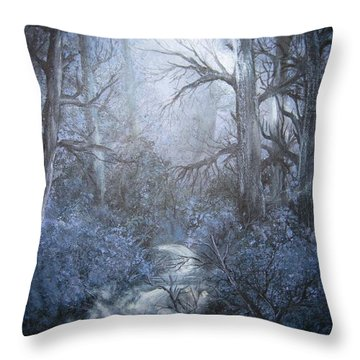 Throw Pillow featuring the painting Mystery by Megan Walsh