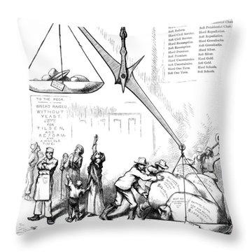 Nast Election, 1876 Throw Pillow