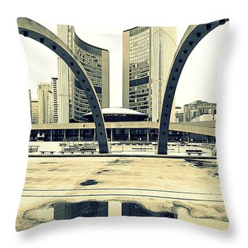 Nathan Phillips Square Throw Pillow by Valentino Visentini