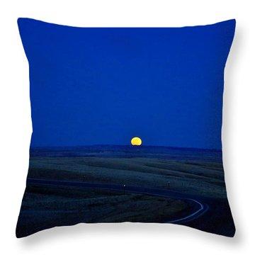 Native Moon Throw Pillow