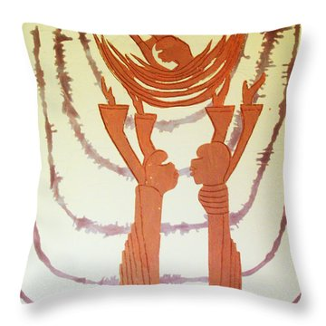 Nativity Of Jesus Throw Pillow by Gloria Ssali