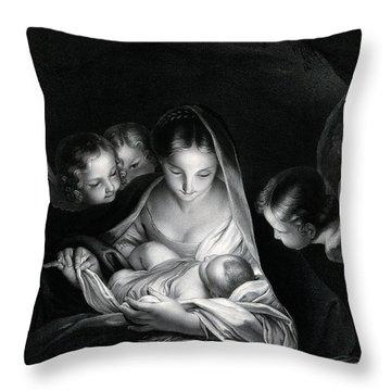 Nativity Of Jesus Throw Pillow
