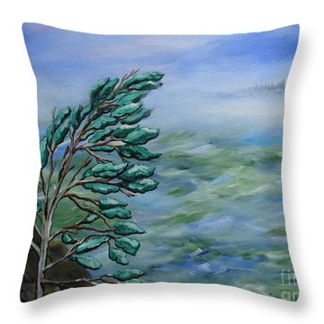 Natures Dance Throw Pillow by Beverly Livingstone