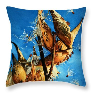 Nature's Launch Pad Throw Pillow