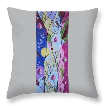Throw Pillow featuring the painting Nature's Bounty by Kathleen Sartoris
