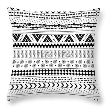 Navajo Surf Repeat Print Throw Pillow