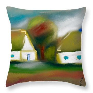 Neighbors Throw Pillow by Frank Bright