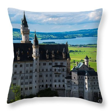 Neuschwanstein Castle - Bavaria - Germany Throw Pillow