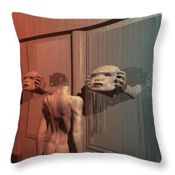 Throw Pillow featuring the digital art New Faces by John Alexander