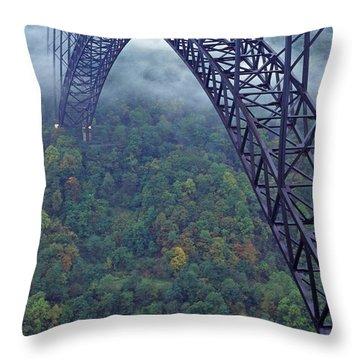 New River Gorge Bridge Throw Pillow by Thomas R Fletcher