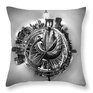Manhattan World Throw Pillow