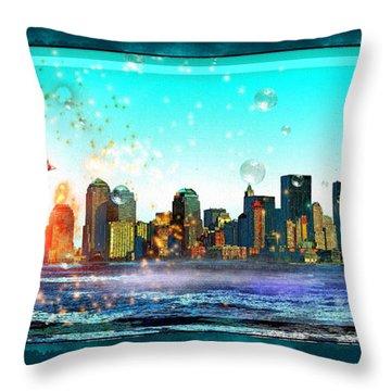 New York City Throw Pillow by Daniel Janda