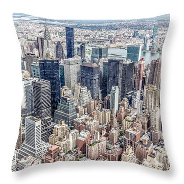 New York City From The Empire State Building Throw Pillow