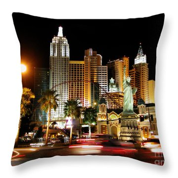 Throw Pillow featuring the photograph New York Minute by Stuart Turnbull