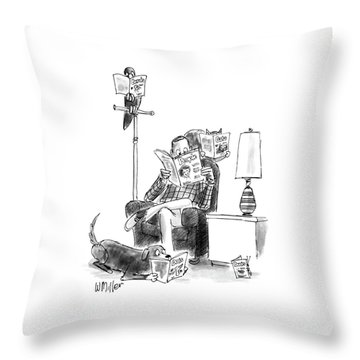 New Yorker June 15th, 1987 Throw Pillow