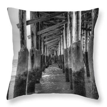 Newport Beach Pier Throw Pillow