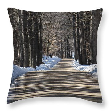 Nh Back Roads Throw Pillow
