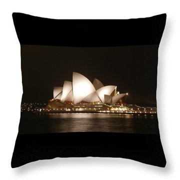 Night At The Opera Throw Pillow by Ellen Henneke